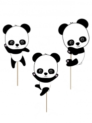 10 Décorations pour gâteau Bébé Panda 20 cm