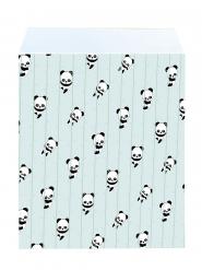 25 Sacs cadeaux en papier Bébé Panda 17 x 13 cm