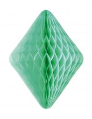 Diamant en papier alvéolé vert 24 x 30 cm