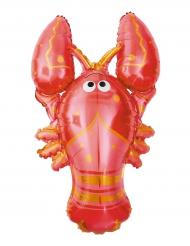 Ballon en aluminium Homard rouge 55 x 94 cm
