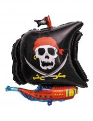 Ballon en aluminium Bateau de pirate 64 x 66 cm