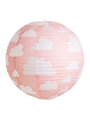 Lanterne japonaise rose à nuages 35 cm
