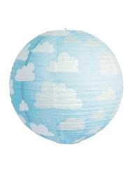 Lanterne japonaise bleue à nuages 35 cm
