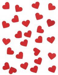 Confettis en papier cœurs rouges 20 gr