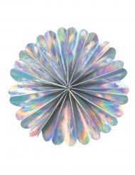 Rosace éventail iridescente 20 cm