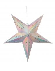 Lanterne étoile pastel irisée 30 cm