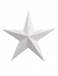Lanterne étoile blanche 30 cm