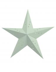 Lanterne étoile verte menthe 30 cm