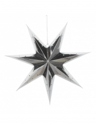 Lanterne étoile argentée 70 cm