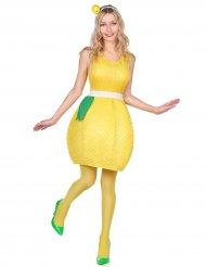 Déguisement robe citron jaune femme