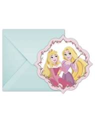 6 Cartes d'invitation avec enveloppes Disney Princesses™