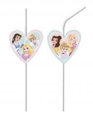 6 Pailles médaillon Disney Princesses™