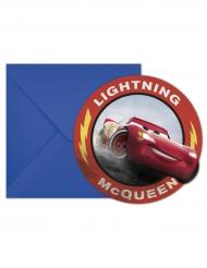 6 Cartons d'invitation avec enveloppes Cars 3™