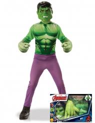 Coffret classique Hulk™ avec gants géants garçon