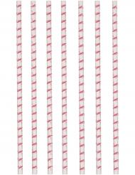 12 Pailles en carton Flamingo Paradise 19,5 cm