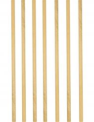 12 Pailles en carton dorées 19,5 cm