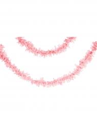 Guirlande en papier rose pâle 7 m