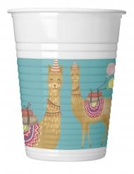 8 Gobelets en plastique Lama Party 200 ml