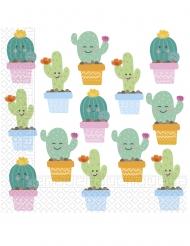 20 Serviettes en papier Petits Cactus 33 x 33 cm