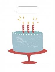6 Sacs cadeaux gâteau d'anniversaire 16,5 x 23 cm
