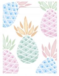 6 Sacs cadeaux Ananas pastel