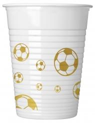 8 Gobelets en plastique Football or 200 ml