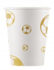8 Gobelets en carton Football Gold 200 ml
