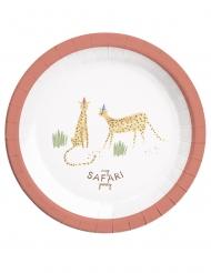 8 Assiettes en carton Safari Party 23 cm