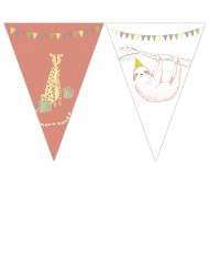 Guirlande de 9 fanions Safari Party 2,3 m x 25 cm