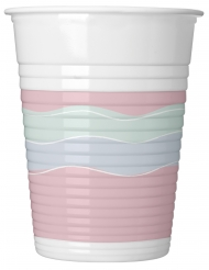 8 Gobelets en plastique Elegant Party pastel 200 ml