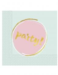 20 Serviettes en papier Elegant Party pastel 33 x 33 cm