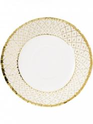 12 Assiettes creuses en carton Porcelaine 20 cm