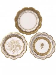 12 Petites assiettes en carton Porcelaine 18 cm