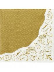 20 Serviettes en papier Porcelaine 33 x 33 cm
