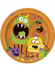 8 Assiettes en carton Silly Monsters 23 cm