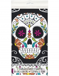 Nappe en plastique Tête de mort Day of the Dead 137 x 213 cm