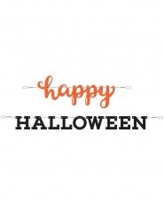 Bannière en papier Happy Halloween orange et noire