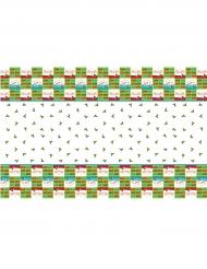 Nappe en plastique Houx de Noël blanc et vert 1,37 x 2,13 m