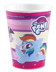 8 Gobelets en carton My Little Pony™ 250 ml