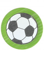 8 Assiettes en carton Football 23 cm