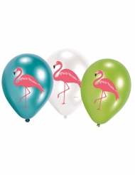 6 Ballons en latex Flamingo Paradise 28 cm