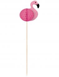 10 Pics en bois Flamingo Paradise 20 cm