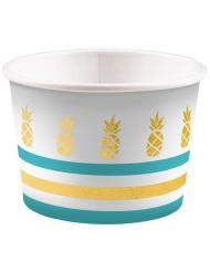 8 Pots à glace Ananas doré 270 ml