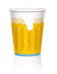 6 Grands gobelets carton chope de bière 450 ml