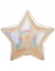 Ballon aluminium étoile argent scintillant 50 x 45 cm