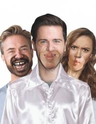 10 fausses bouches en carton humoristique grimace