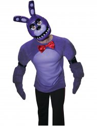 Demi masque en plastique Bonnie™ jeu vidéo Five nights at Freddy's™ adulte