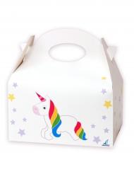 12 Boîtes en carton Licorne blanches 16 x 10,5 x 16 cm