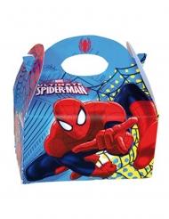 4 Boîtes en carton Spiderman™ 16 x 10,5 x 16 cm