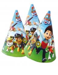 6 Chapeaux de fête Pat'Patrouille™ 16 x 11 cm